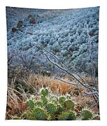 Frosty Prickly Pear Tapestry