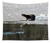 Frosty River Otter  Tapestry