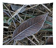 Frosty Veined Leaf Tapestry