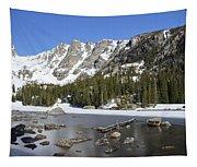 Frozen Colorado Lake Tapestry
