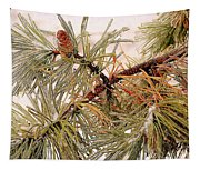Frozen Pine Tapestry