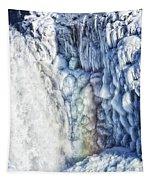 Frozen Waterfall Gullfoss Iceland Tapestry