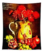 Fruit And Flower Still-life H A Tapestry