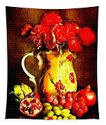 Fruit And Flower Still-life H B Tapestry