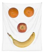 Fruity Happy Face Tapestry