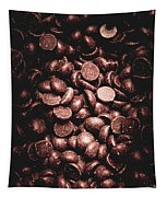 Full Frame Background Of Chocolate Chips Tapestry