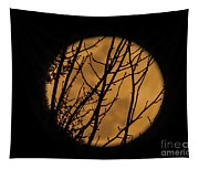 Full Moon Through The Branches Tapestry
