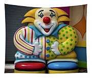 Fun House Clown Point Pleasant Nj Boardwalk Tapestry