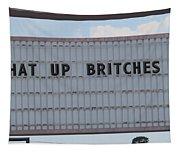Funny Billboard  Tapestry