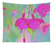 Fuchsia Flower Abstract Tapestry