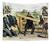G. Cleveland Cartoon, 1895 Tapestry