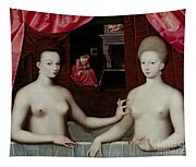 Gabrielle Destrees And Her Sister The Duchess Of Villars Tapestry