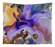 Galactic Portal. Abstract Fluid Acrylic Pour Tapestry