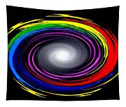 Galaxy In Chakra Colors Tapestry