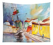 Gallion In Vila Do Conde Tapestry