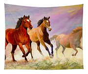 Galloping Horses Tapestry