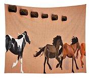 Galloping Horses Mural - Taos Tapestry