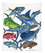 Gamefish Collage Tapestry