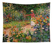 Garden At Giverny Tapestry