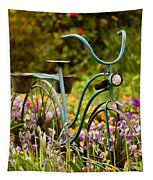 Garden Bicycle II Tapestry