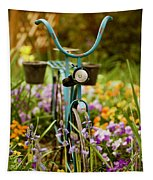 Garden Bicycle Tapestry