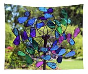 Garden Colored Fan Tapestry