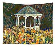 Garden Gazebo Watercolor Tapestry