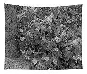 Garden Hydrangeas In Grayscale Tapestry