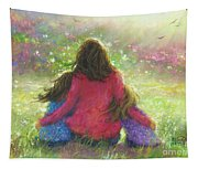 Garden Mother Little Sis Blonde Tapestry