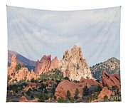 Garden Of The Gods From A Distance Tapestry