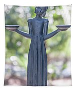 Garden Statue Dreams Tapestry
