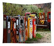 Gas Pump Conga Line In New Mexico Tapestry