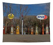 Gas Pumps And Gas Signs Panorama Tapestry