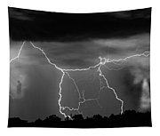 Gates To Heaven  Black And White Tapestry