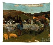 Gauguin: Swineherd, 1888 Tapestry