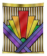 Rainbow Art Deco Tapestry