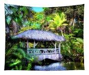 Gazebo In Paradise Tapestry