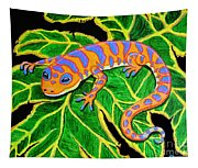 Gecko Hanging On Tapestry
