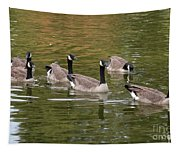 Geese On Pond Tapestry
