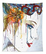 Geisha Soul Watercolor Painting Tapestry
