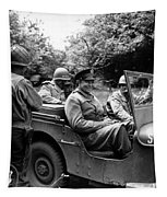 General Eisenhower In A Jeep Tapestry by War Is Hell Store