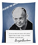 General Eisenhower Speaking For America Tapestry