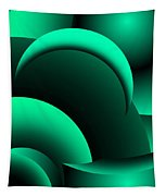Geometric Abstract In Green Tapestry