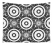 Geometric Black And White Tapestry