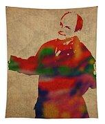 George Constanza Of Seinfeld Watercolor Portrait Tapestry