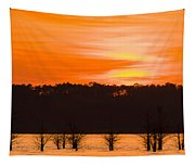 George T. Bagby State Park Sunset Tapestry