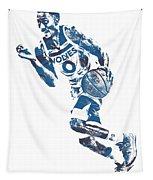 George Teague Minnesota Timberwolves Pixel Art 1 Tapestry