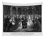 George Washington's Reception At White House - 1776  Tapestry