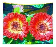 Gerbera Couple Tapestry