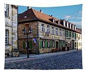 German Street Scene Tapestry